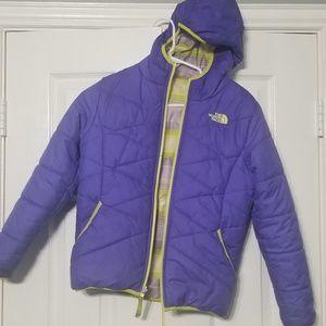 North Face Girls reversible jacket